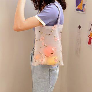 TangTangBags - Embroidered Daisy Handbag