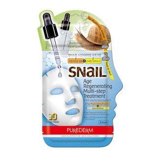 PUREDERM - Snail Age Regenerating Multi-Step Treatment: Ampoule 2ml + Snail 3D Mask 23ml