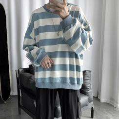 YERGO - 长袖条纹宽松上衣