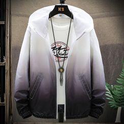 Andrei - Gradient Hooded Zip Jacket