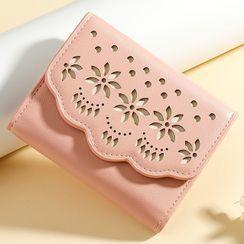 tablarosa - Floral Cutout Trifold Short Wallet