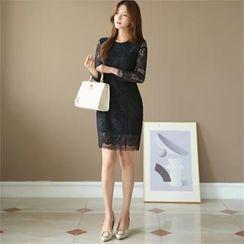 CHICLINE - Laced Sheath Dress