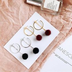 SEIZA - Pompom Dangle Earring