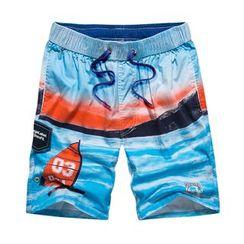 Carser - 印花沙滩短裤