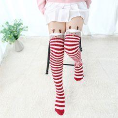 Almilo - 珊瑚絨過膝襪 / 暖腿套