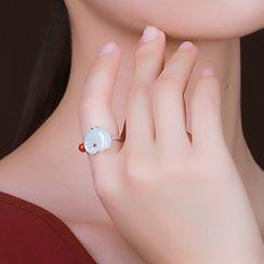Cinnabar - Chinese Style Ring