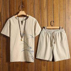 Andrei - Set: Short-Sleeve Printed T-Shirt + Shorts