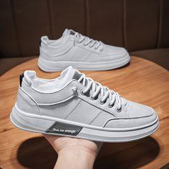 TATALON - 帆布拼接系带休閒鞋