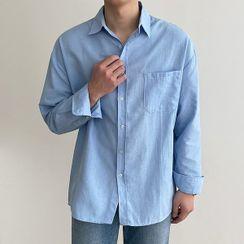 Seoul Homme - Patch-Pocket Oxford Shirt