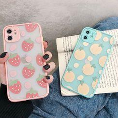 Scotmila - 橘子草莓边框手机壳 - iphone 7 / 8 /7plus / 8plus / X / XS / XS Max / XR /11/11 Pro/11 Pro Max