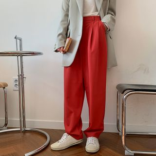 FROMBEGINNING - Baggy-Fit Dress Pants