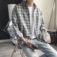 Acrius - Long-Sleeve Plaid Shirt