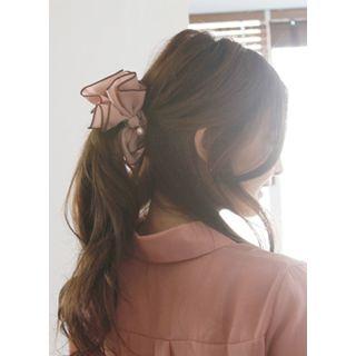 kitsch island - Faux-Pearl Bow Hair Clamp