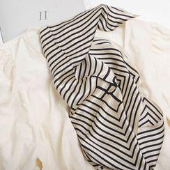 MAKA - Striped Silk Scarf