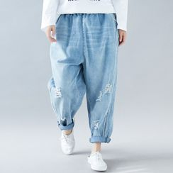 RAIN DEER - Rip Harem Jeans