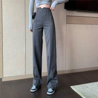 Yako - High-Waist Straight Leg Pants