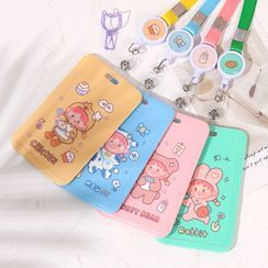 Hekki - Cartoon Print Neck Strap Card Holder