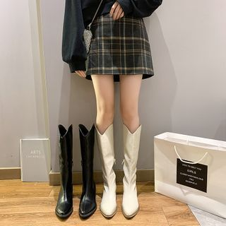 Nikao - Faux Leather Short Boots