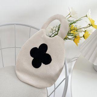 TangTangBags(タンタンバッグズ) - Clover Embroidered Corduroy Handbag