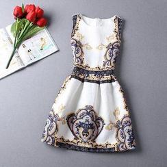 NINETTE - Printed Jacquard Tea Dress