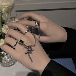 Poppin - 蝴蝶链条合金戒指