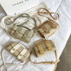 Bagtrix - Woven Flap Crossbody Bag