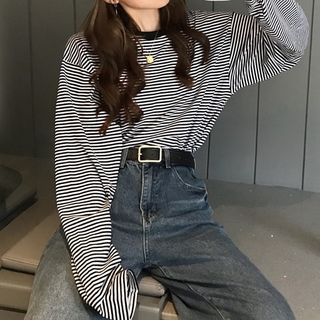 IndiGirl - Long-Sleeve Striped T-Shirt