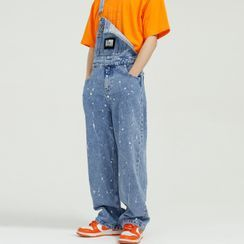 FAERIS - Splash Print Denim Jumper Pants