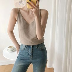 monroll - Knit V-Neck Camisole Top