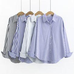 白金天使 - 长袖条纹衬衫