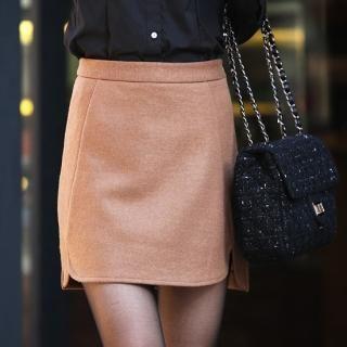 Styleberry - Wool Blend Miniskirt