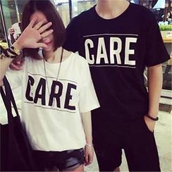 Rosehedge - Couple Matching Short-Sleeve Printed T-Shirt