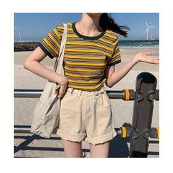 Moon City - Short-Sleeve Striped T-Shirt