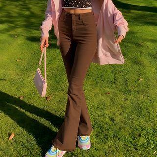 Puffie - High-Waist Boot-Cut Jeans
