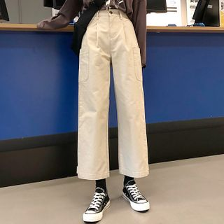 Dute - Pantalones tobilleros de pernera ancha