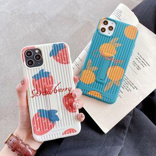 Mobby - Fruit Print Kickstand Phone Case - iPhone 11 Pro Max / 11 Pro / 11 / XS Max / XS / XR / X / 8 / 8 Plus / 7 / 7 Plus / 6s / 6s Plus