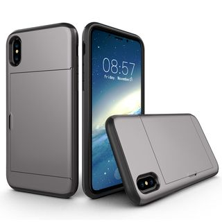 Wolfa - Sliding Door Card Holder Phone Case - iPhone X/XS