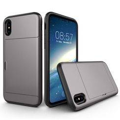 Wolfa - Sliding Door Card Holder Phone Case - iPhone X/XS
