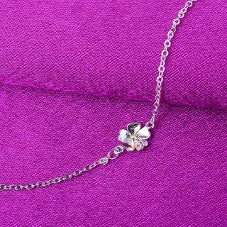 Forainer - 925 Sterling Silver Flower Bracelet / Anklet