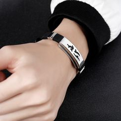 Creole - Stainless Steel Silicone Bracelet