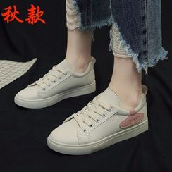 MARTUCCI - Patched Accent Sneakers