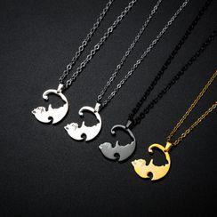 Tenri - Couple Matching Cat  Pendant / Necklace / Set
