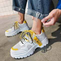 HANO - Platform Lace Up Sneakers