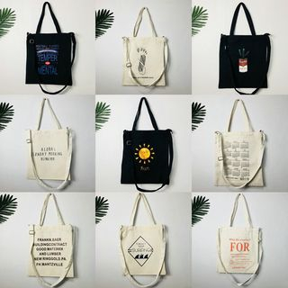 Woodword(ウッドワード) - Print Canvas Tote Bag (Various Designs)