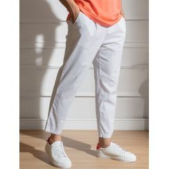 STYLEMAN(スタイルマン) - Drawstring-Waist Straight-Cut Pants
