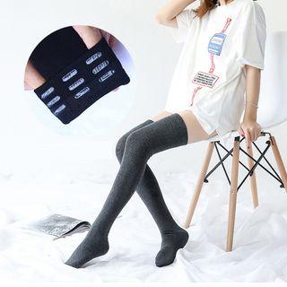 Abarana - 纯色过膝长袜