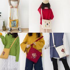 Geolte(ジオルテ) - Printed Canvas Crossbody Bag