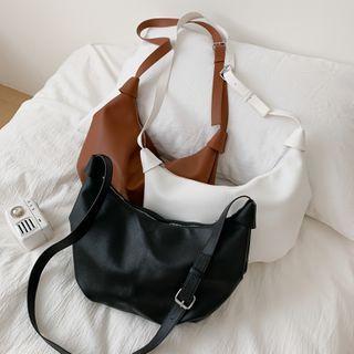 Perlin - Plain Crossbody Hobo Bag