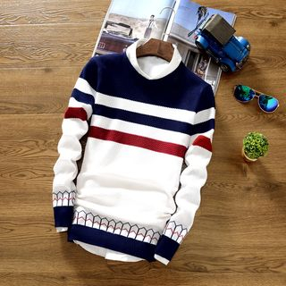 Muore - Stripe Long-Sleeve Knit Top