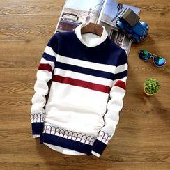 Muore - 條紋長袖針織上衣